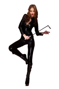 Amour-Blk-Red-Goth-Punk-PU-Faux-Leather-Catsuit-Teddy-Zipperfront-Clubwear-Black-0