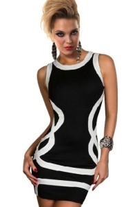 Amour-Sexy-Trims-Tank-Dress-Bodycon-Clubwear-Black-0