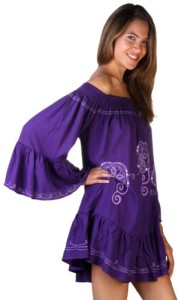 Back-From-Bali-Womens-Tunic-Dress-Off-the-Shoulder-Embroidery-Sequins-0