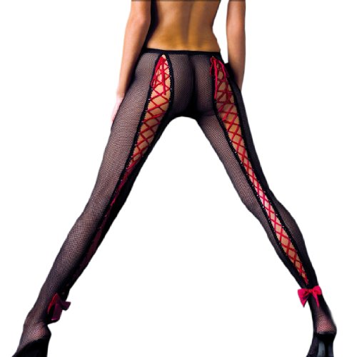 Black-Fishnet-Pantyhose-with-Red-Lace-Up-OR-Black-Lace-Up-Back-0