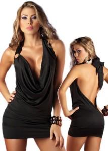 Deep-Plunging-Dress-Black-Open-Back-Halter-Style-0