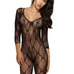 Dreamgirl-Womens-Long-Sleeve-Bow-Lace-Bodystocking-with-Open-Crotch-1