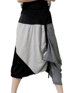 ELLAZHU-Baggy-Genie-Harem-Hippie-Hip-hop-Capri-Short-Pants-Trouser-Onesize-GY02-0