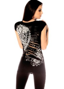 Folter-Womens-Slashed-Back-Gothic-Tee-0