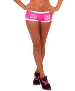 Hot-Sexy-Mini-Contrasting-Stretch-Laser-Cut-Exercise-Yoga-Gym-Fitness-Shorts-0