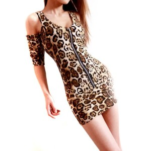 LOCOMO-Leopard-Cut-Out-Shoulder-Two-Way-Front-Back-Zip-Up-Mini-Dress-S-M-FFD027-0
