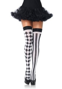 Leg-Avenue-Womens-Harlequin-Thigh-Highs-BlackWhite-One-Size-0