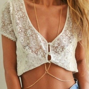 Mae-Mee-1PC-Newest-Simple-Gold-Bikini-Beach-Crossover-Harness-Necklace-Waist-Belt-Belly-Unibody-Body-Chain-0