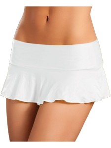 Mix-Match-Sexy-White-A-Line-Pleated-Ruffle-Mini-Skirt-0