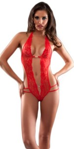 Oh-la-la-Cheri-Womens-Lingerie-Lace-Crotchless-Teddy-with-Rhinestone-Details-0