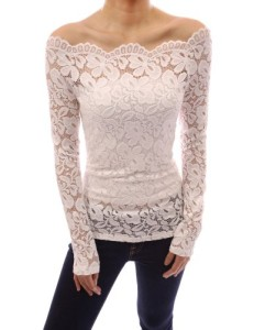 PattyBoutik-Floral-Lace-Scallop-Off-Shoulder-Long-Sleeve-Fitted-Sheer-Blouse-Top-0