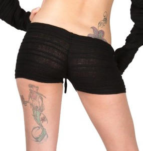 Sexy-Stretch-Knit-Low-Rise-Shadow-Stripe-Drawstring-Shorts-by-KD-dance-New-York-0