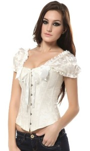 Szivyshi-Womens-Overbust-Corset-Top-with-Ruched-Sleeves-0