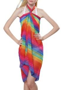 VonFon-Womens-Swinwear-Blouse-Beach-Romper-Rhodes-Rainbow-Bikini-Sarong-0