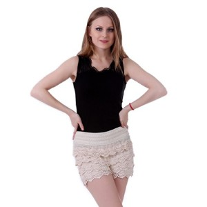 HDE-Womens-Fitted-Scallop-Hem-Crochet-Lace-Mini-Shorts-0