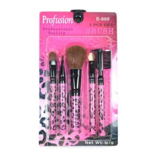 5-PCS-PINK-LEOPARD-BRUSH-SET-KIT-MAKE-UP-COSMETIC-B869-Free-Earring-Gift-0
