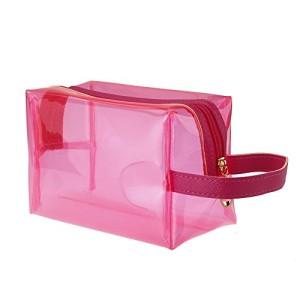 Anself-Jelly-Cosmetic-Bag-MakeUp-Translucent-Bath-Sun-bag-Case-Candy-Color-Bag-Rose-0