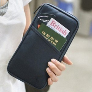 ClickONE-Black-Travel-Wallet-with-Closure-Zip-Document-Organiser-Passport-Ticket-Holder-0