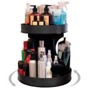 Divas-Professional-Stylists-will-Love-This-15-base-Spinning-Cosmetic-Organizer-2-High-Sides-Center-Dividers-Keep-Product-in-Place.-Proudly-Made-in-the-USA-by-PPM-0