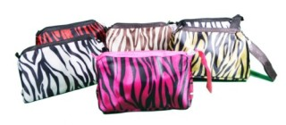 Lot-of-6-Womens-Zebra-Print-Fashion-Cosmetic-Pouch-Assorted-Colors-0