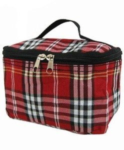 Red-Plaid-Cosmetic-Makeup-Case-0
