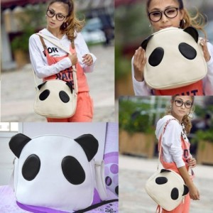 Vktech-Cute-Panda-Ear-Woman-Handbag-PU-Shoulder-Bag-Satchel-White-Fashion-0